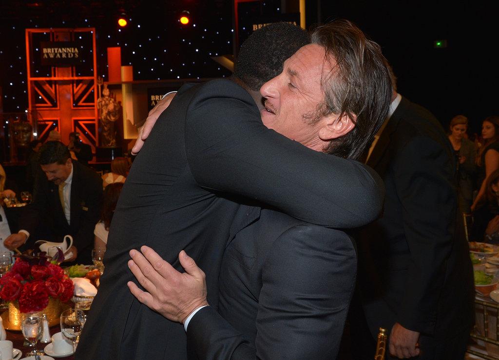 He Gives Sean Penn Big Bear Hugs