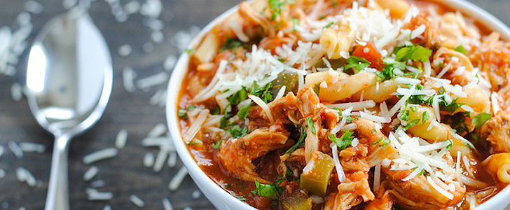 Savory Sight: Slow-Cooker Chicken-Parmesan Soup