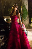 Vampire Elena is kind of a jerk, especially when she steals Caroline's prom dress.