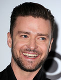 Justin Timberlake showed off his smile.