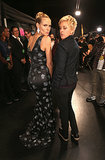 Ellen DeGeneres and Heidi Klum did their best duck faces for the cameras at the People's Choice Awards.
