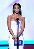 Jessica Alba wore white to present at the People's Choice Awards. See more photos of Jessica at the award show.