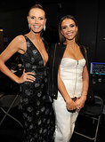 Heidi Klum and Jessica met up backstage.