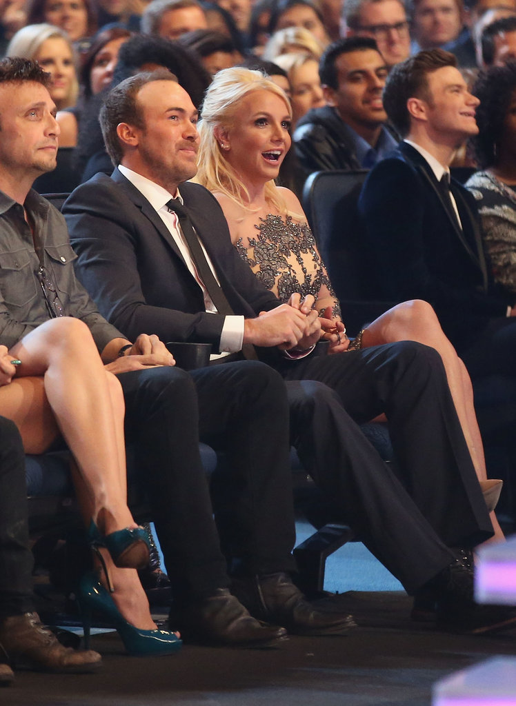 Britney Spears let out a look of shock in the audience.