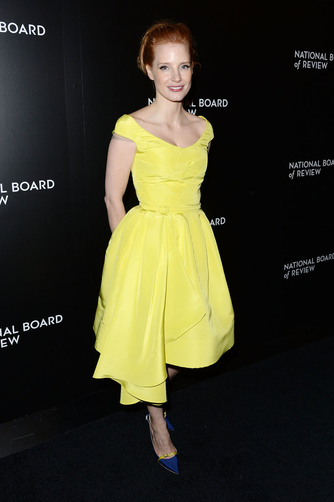 Jessica Chastain dazzled in yellow.