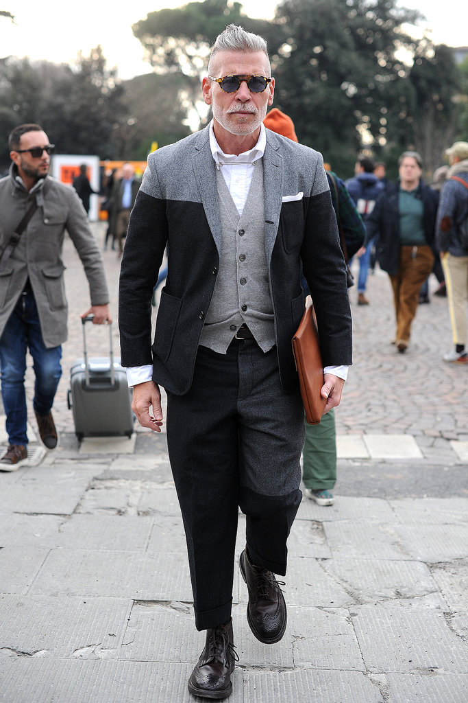 Nick Wooster knows his way around a good suit.