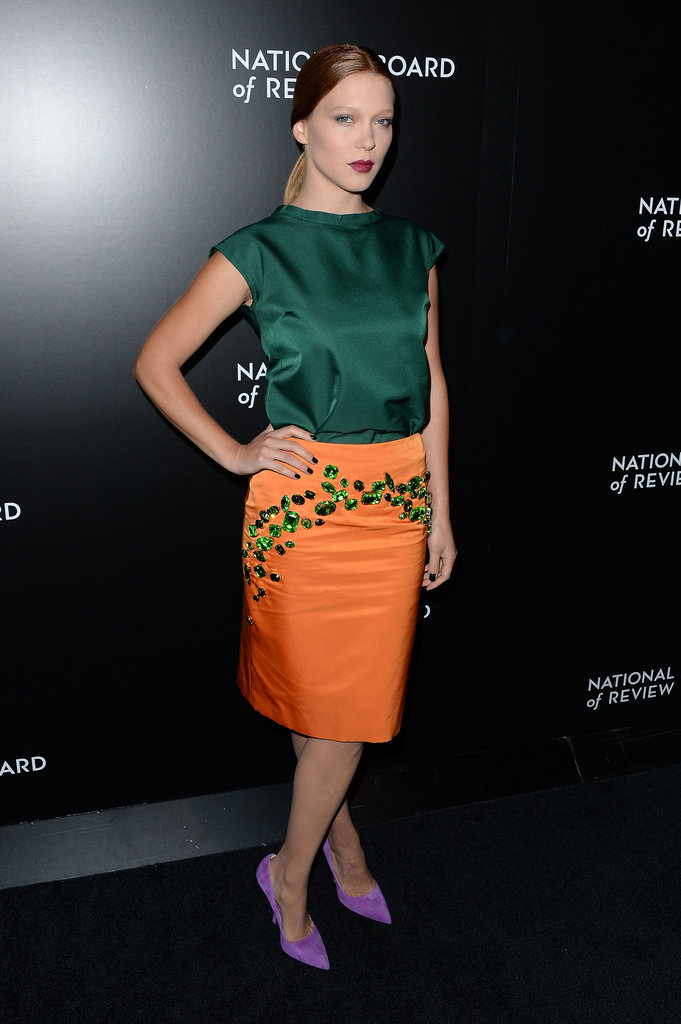 Léa Seydoux in Prada at the National Board of Review Awards Gala.
