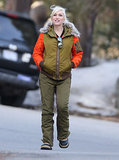 The singer's Winter vacations have meant plenty of opportunities for her to bundle up. Instead of a common black puffer, she picked an army-green style with quilted orange sleeves and a furry hood from her LAMB for Burton line.