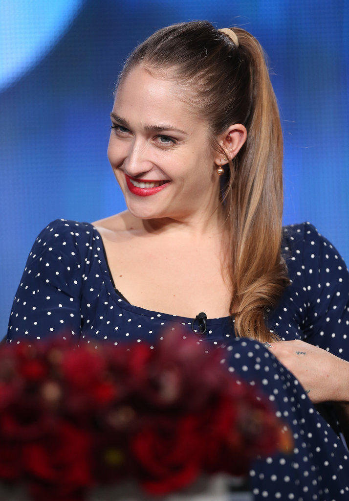 Jemima Kirke gave a smirk while speaking about Girls.