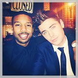 Zac Efron and Michael B. Jordan had a totally not awkward afterparty.  Source: Instagram user zacefron