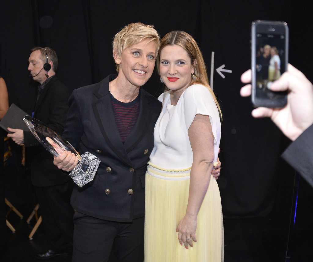 Ellen DeGeneres and Drew Barrymore posed for a picture together.