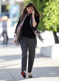 Jennifer Garner took a call on Wednesday while running errands in LA.