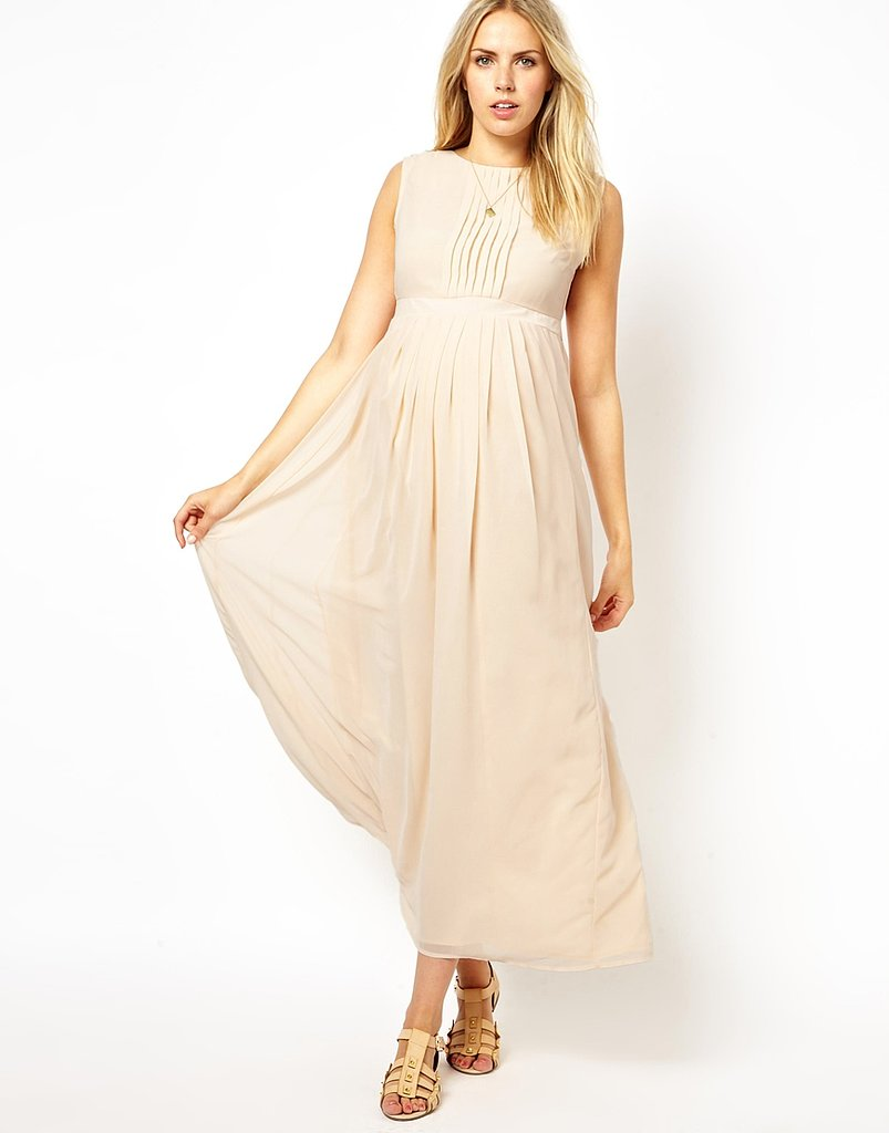 ASOS Maternity Exclusive Maxi Dress With Pleated Front