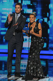 She presented favorite pop artist with <b>Arrow</b>'s Stephen Amell.