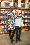 Alek Wek and Humberto Leon at the Kenzo Pre-Fall presentation.