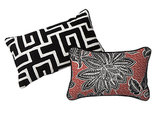 If you're looking to experiment with layering patterns, try putting this Greek key pillow ($20) and flower pillow ($20) together.