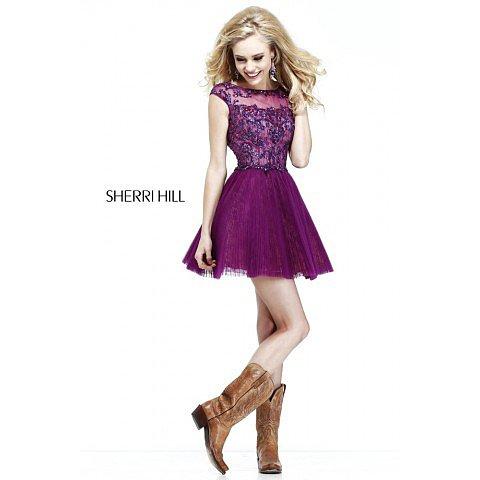Sherri Hill 21032 Fuchsia Prom Dress