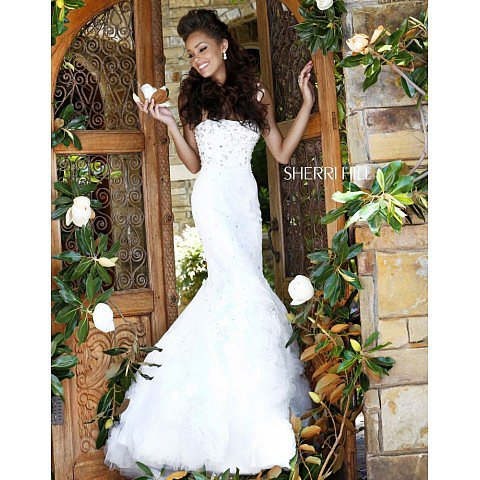 Sherri Hill 21014 Ivory Prom Dress