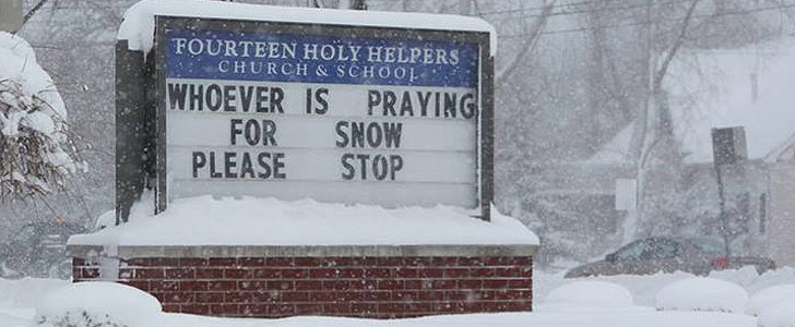 Sick of the Snow? So Is This Church
