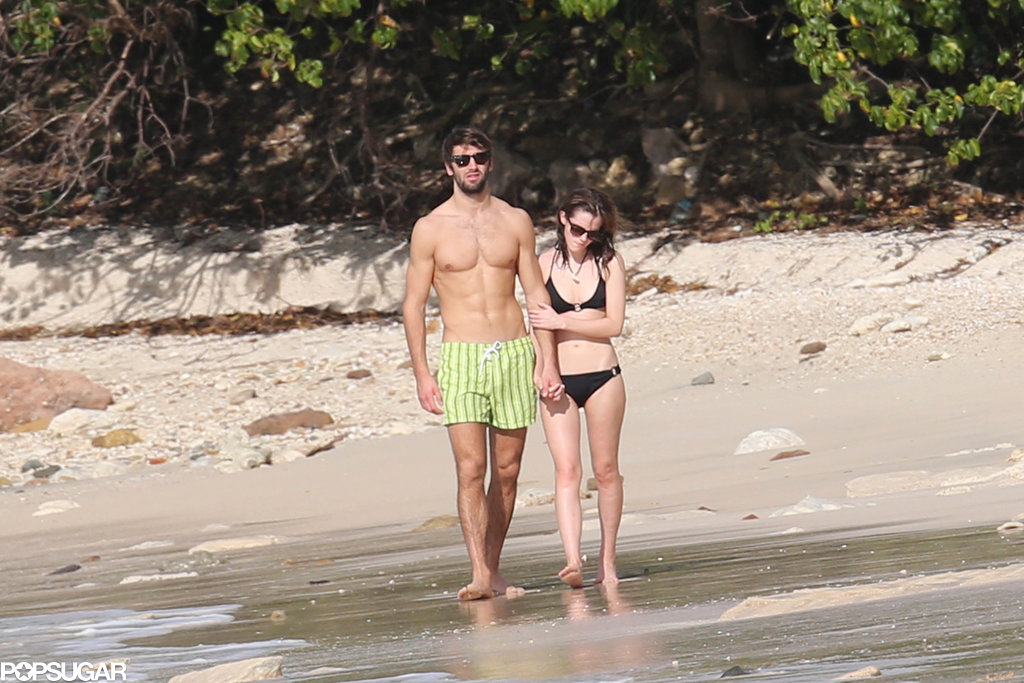 Emma Brings Her Bikini Body and Her New Man to the Beach