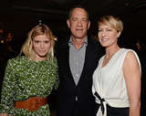 Tom Hanks was in the middle of a gorgeous pair of ladies: Kata Mara and Robin Wright.