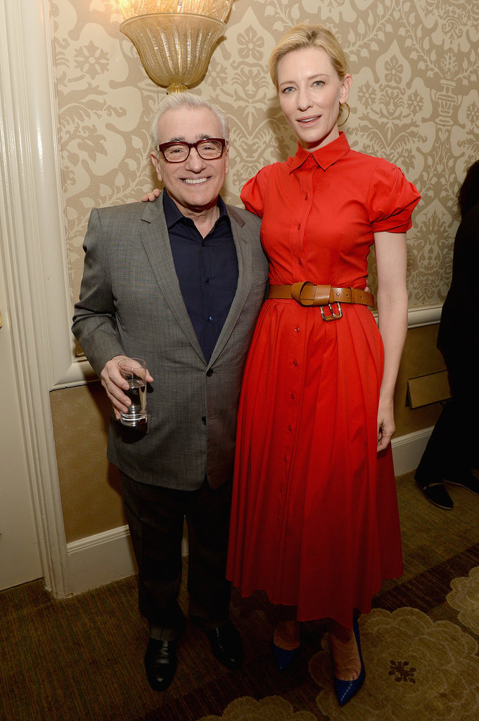 Martin Scorsese lit up next to Cate Blanchett.