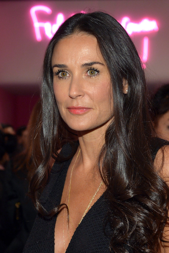 Demi Moore's coral pink lipstick had us dreaming of our warm-weather looks.