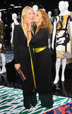 Gwyneth Paltrow got a kiss from Diane von Furstenberg.