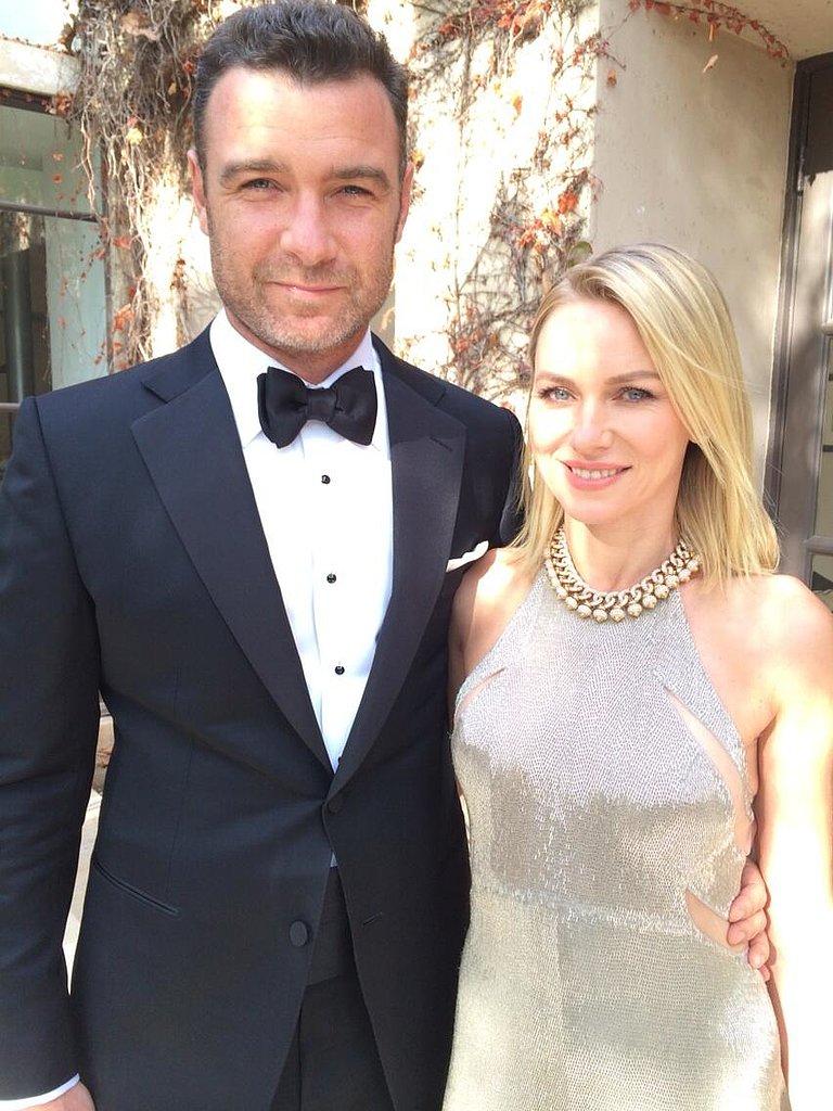 Liev Schreiber posed alongside Naomi Watts ahead of the Golden Globes. Source: Twitter user LievSchreiber