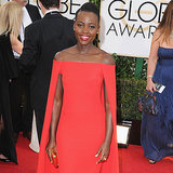 Lupita Nyong'o Dress on Golden Globes 2014 Red Carpet