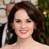 Michelle Dockery Hair and Makeup at Golden Globes 2014
