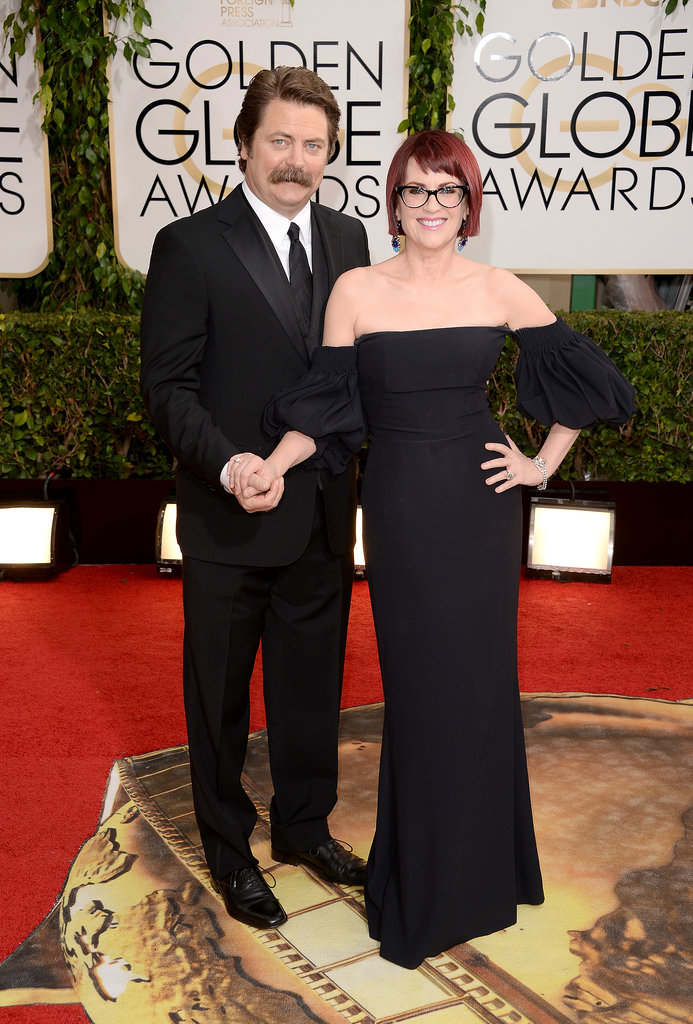 Nick Offerman and Megan Mullally hit the red carpet together.