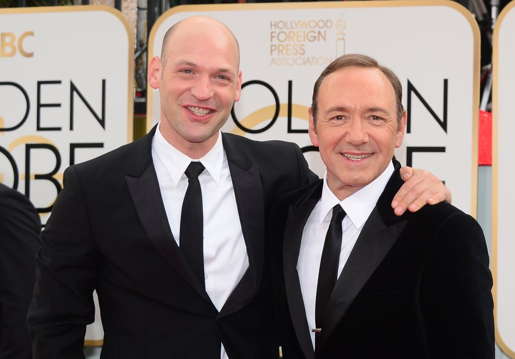House of Cards's Corey Stoll and Kevin Spacey got together for the cameras.
