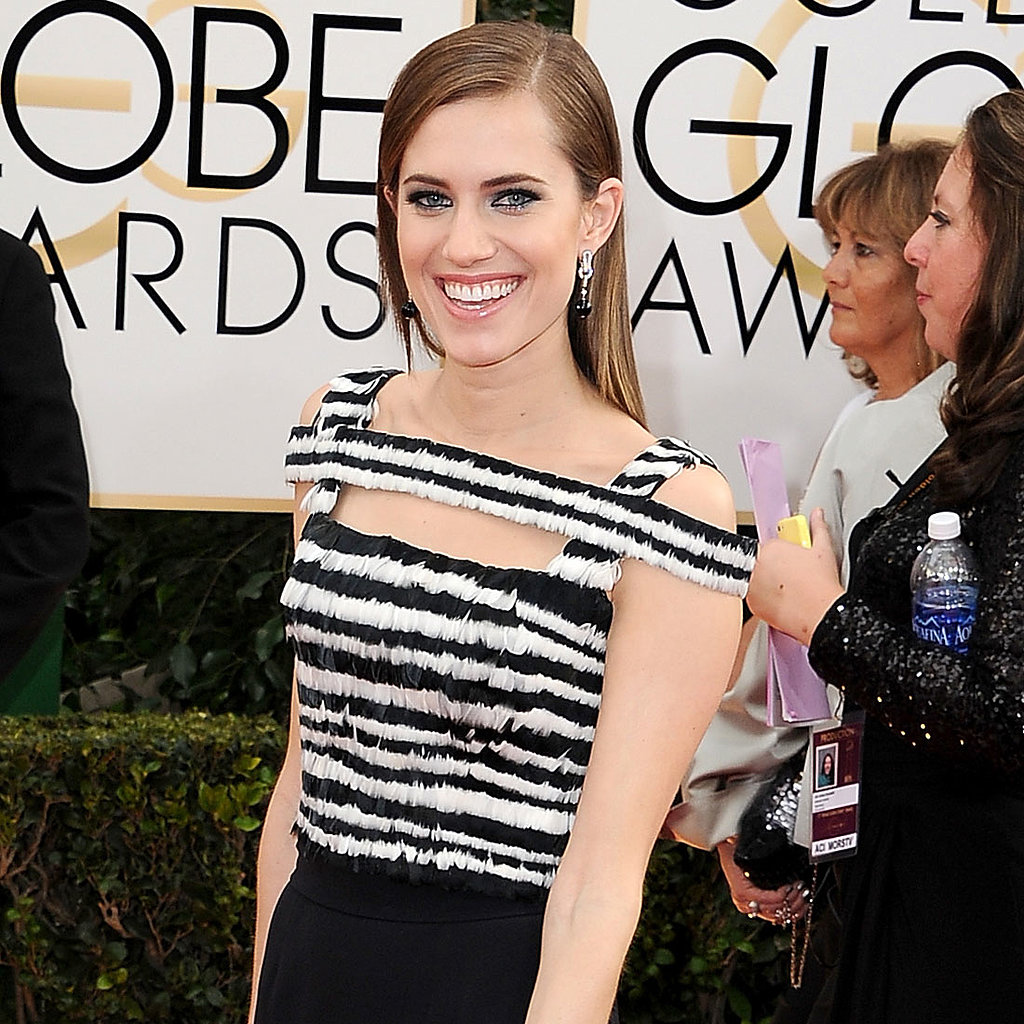 Allison Williams Dress on Golden Globes 2014 Red Carpet