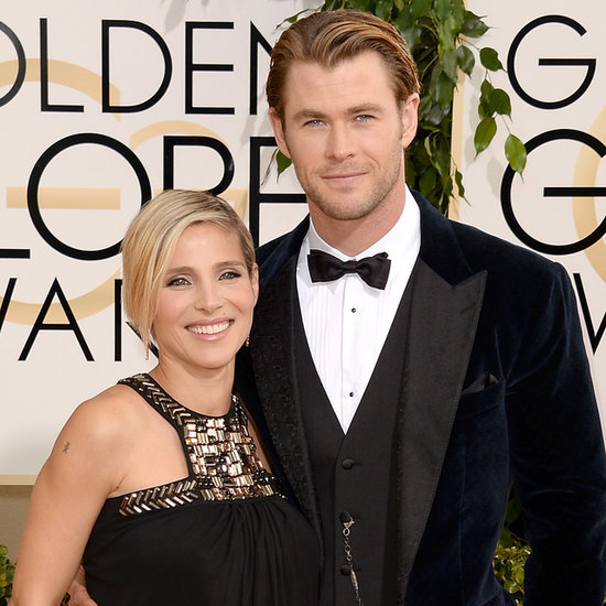 Chris Hemsworth and Elsa Pataky at 2014 Golden Globes