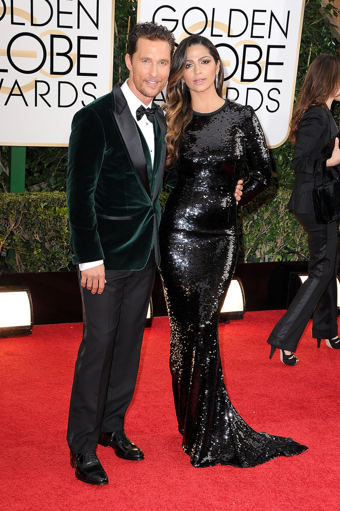 Matthew McConaughey walked the red carpet with Camila Alves.