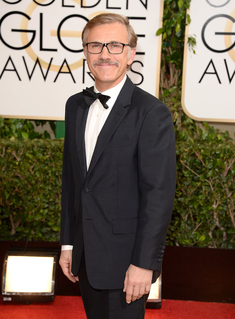 Christoph Waltz accessorized with glasses at the Globes.