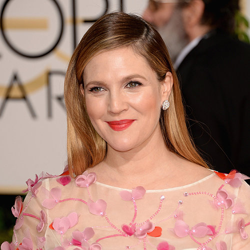 Drew Barrymore Hair and Makeup at Golden Globes 2014