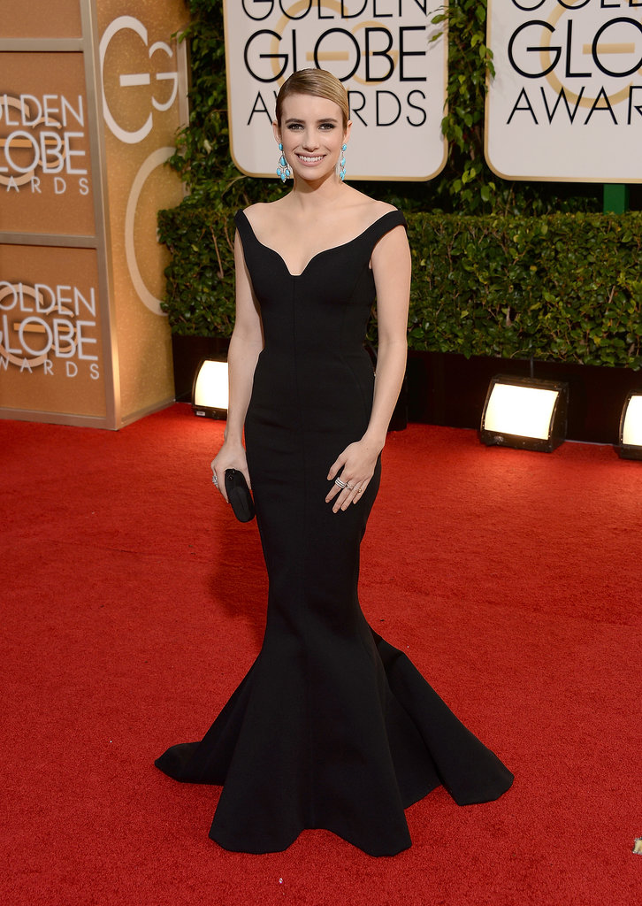 Emma Roberts at the Golden Globes 2014