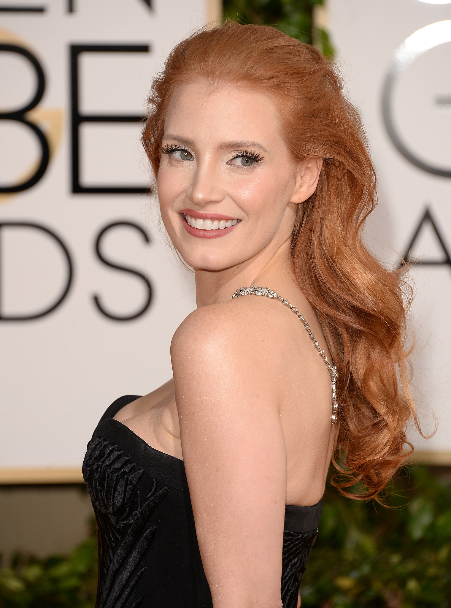 Jessica Chastain Hair Golden Globe Awards