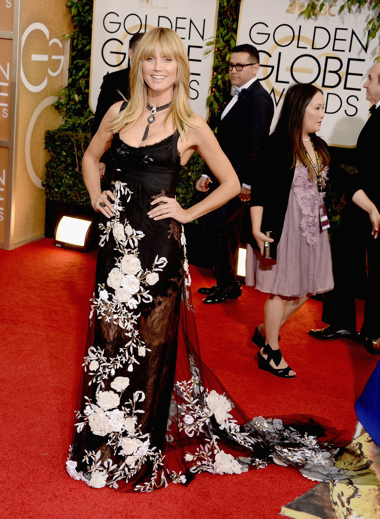 Heidi Klum wore Marchesa to the event.