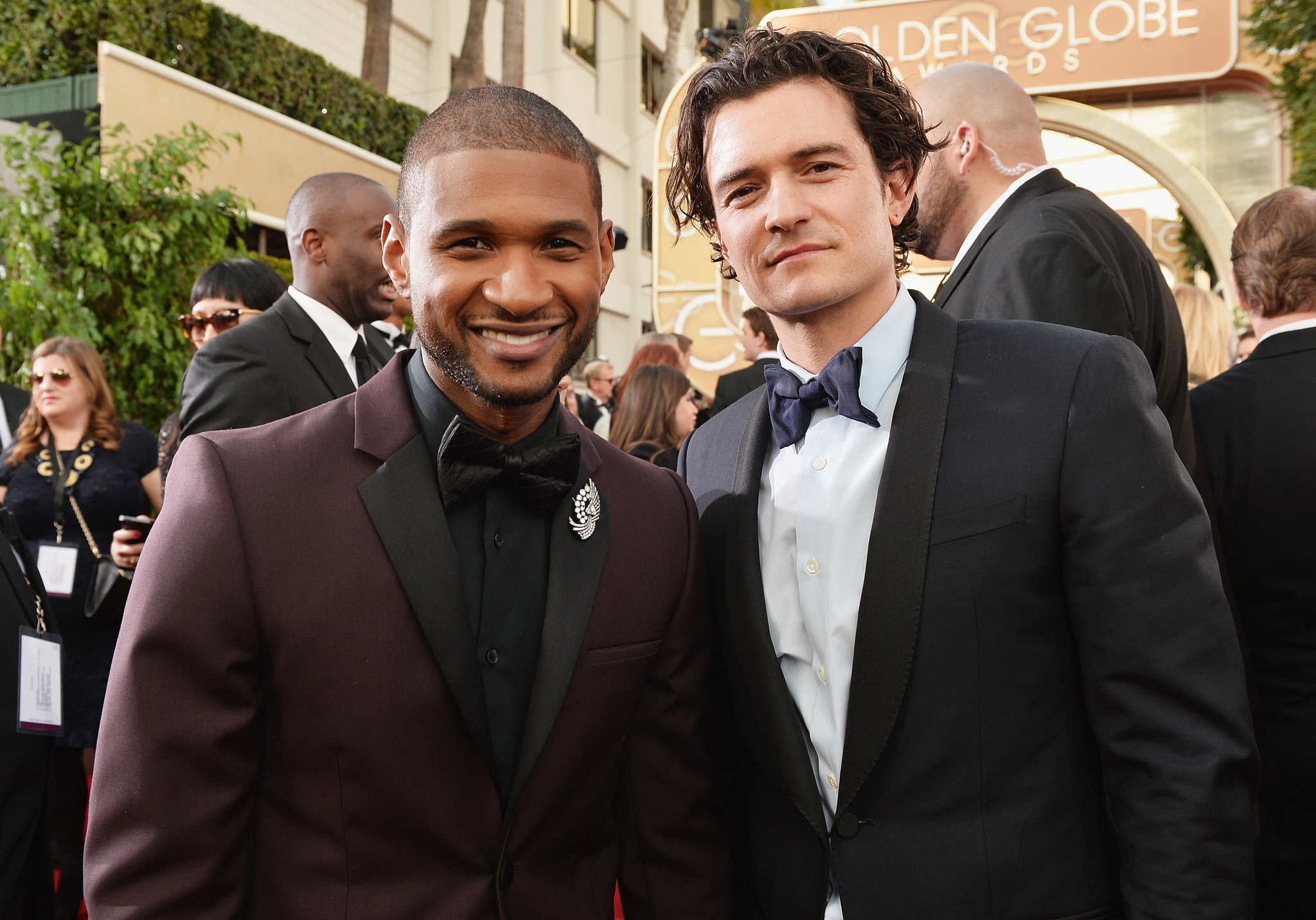 Usher and Orlando Bloom brought double the hotness to the red carpet.