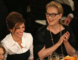 Julia Roberts and Meryl Streep shared a laugh.  Source: Christopher Polk/NBC/NBCU Photo Bank/NBC