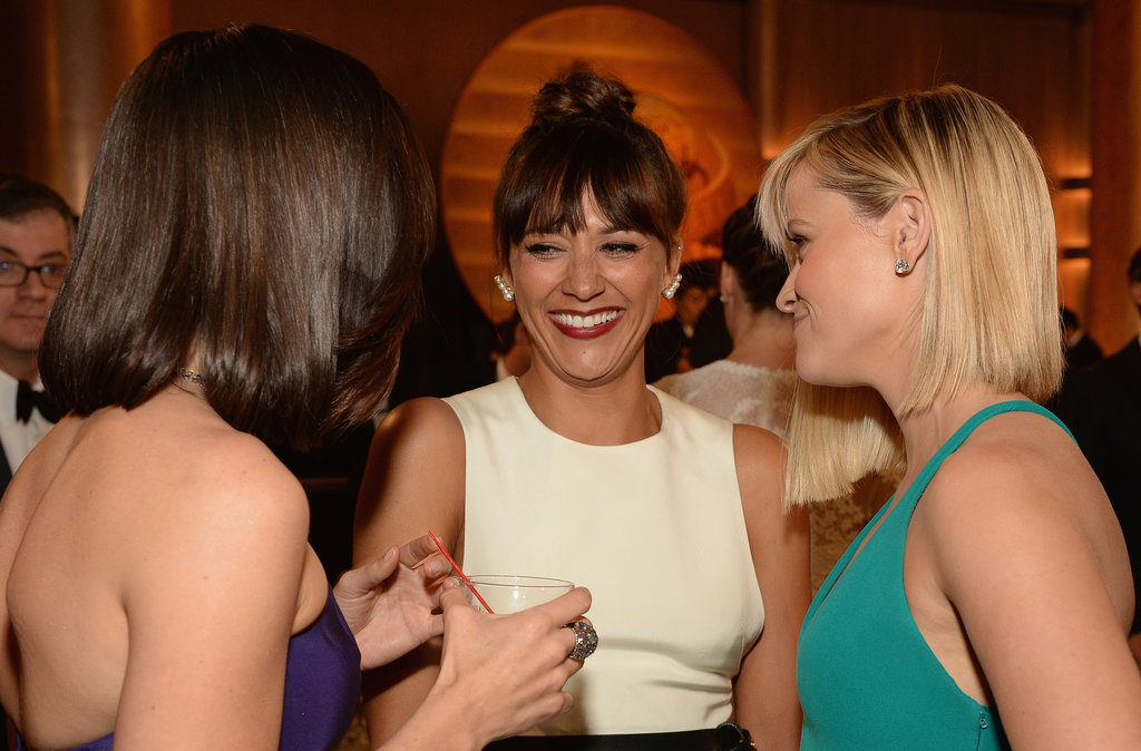 Reese Witherspoon, Aubrey Plaza, and Rashida Jones circled up for girl talk.