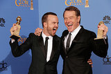Aaron Paul and Bryan Cranston were pumped up!