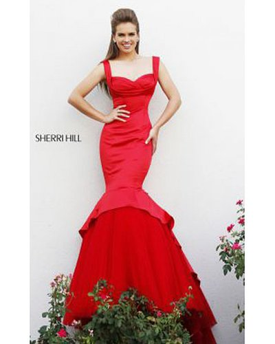 Sherri Hill 21275 Red Mermaid Dress