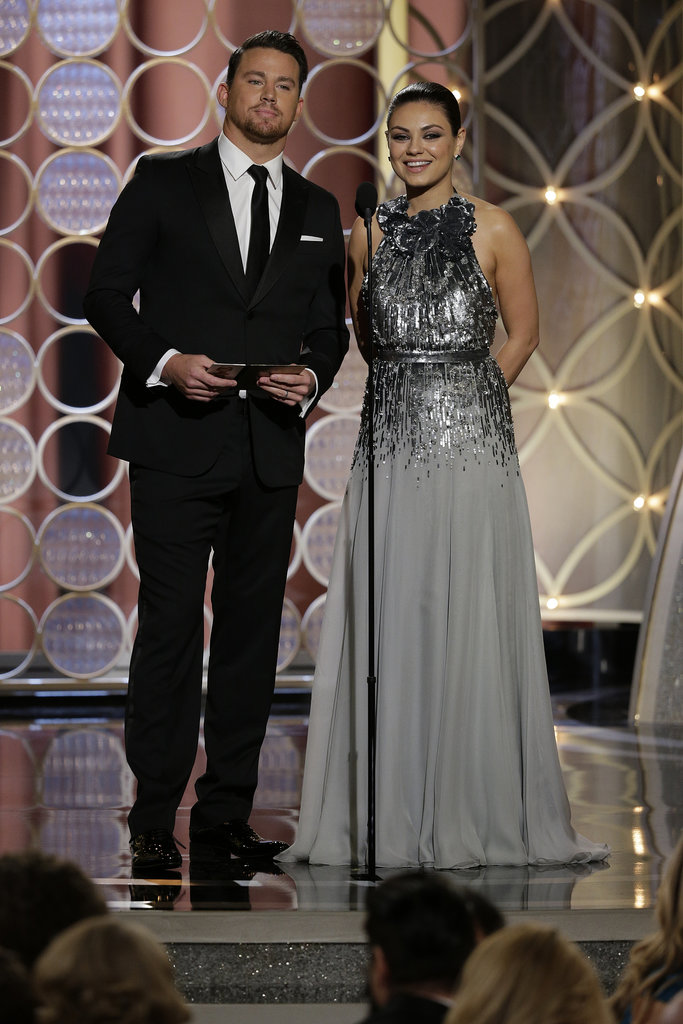 Channing presented an award with Mila Kunis.