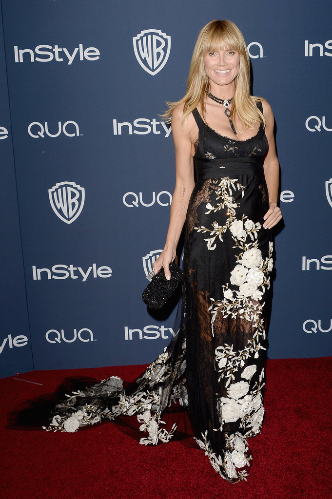Heidi Klum resurfaced at the InStyle bash.