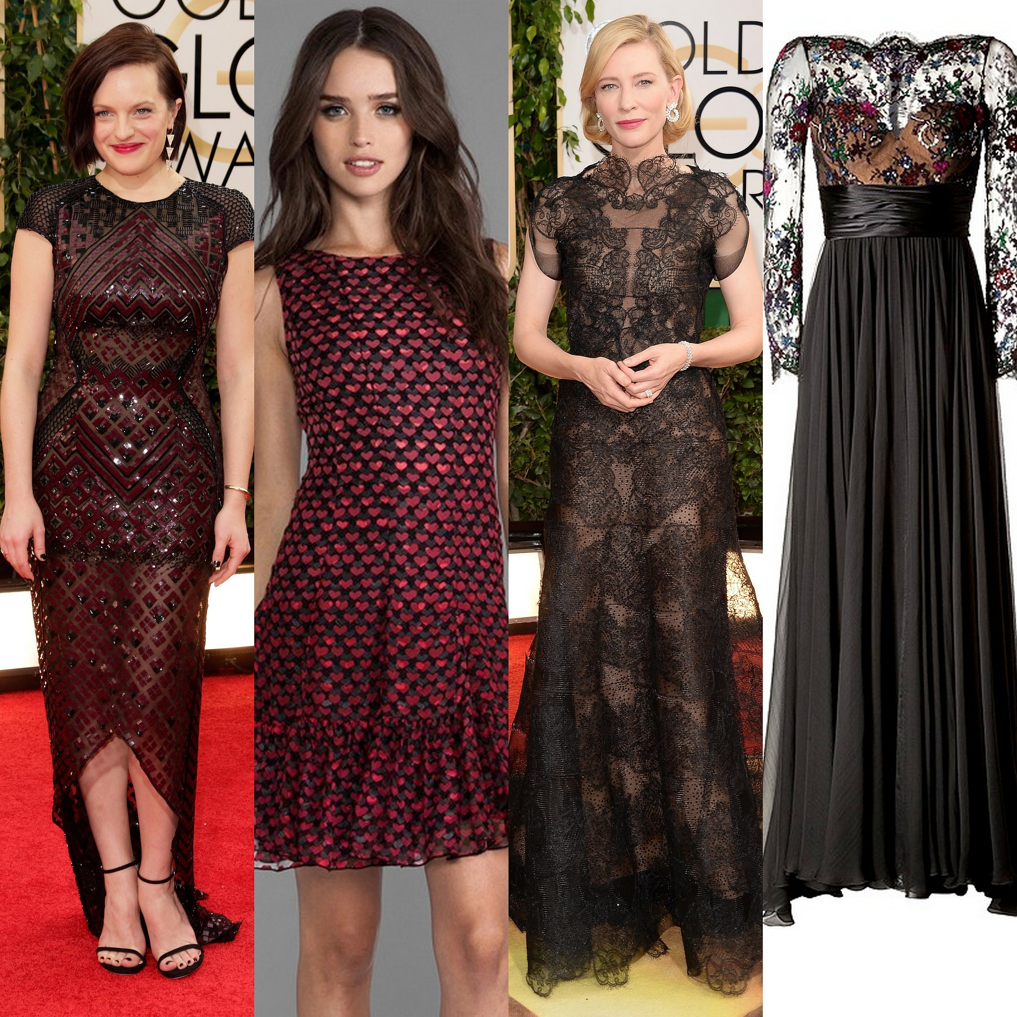 Elisabeth Moss is shining in all of the right places in her geometric gown, while Cate Blanchett's lace gown makes her radiate.