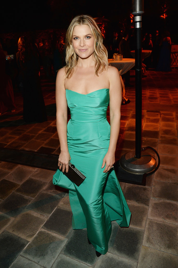 Ali Larter wore a green gown to accept her honor.